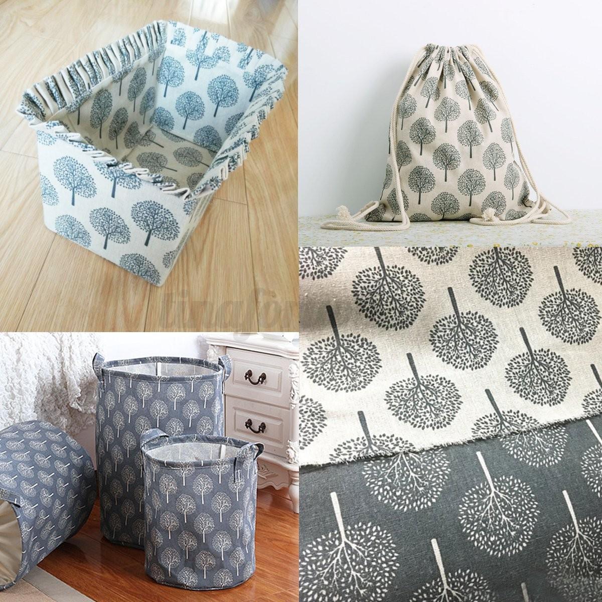 150 x 100cm Baum Print Baumwolle Leinen Stoff für Polster Vorhang Tischdecke