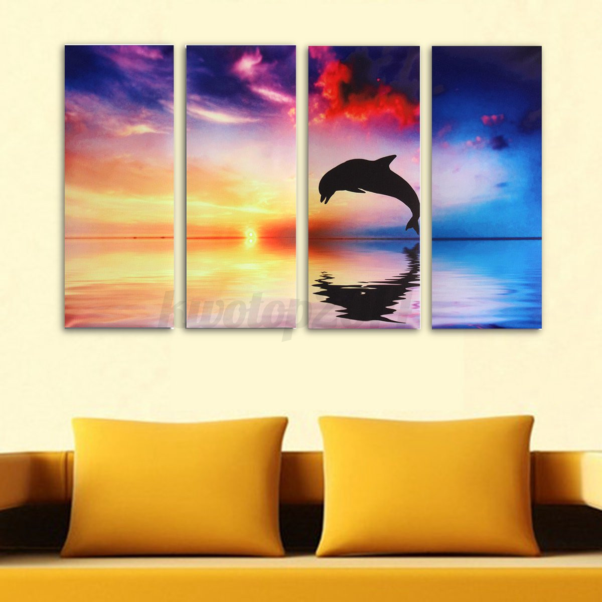 Modern Canvas Oil Painting Abstract Art Mural Hanging Wall Decor ...