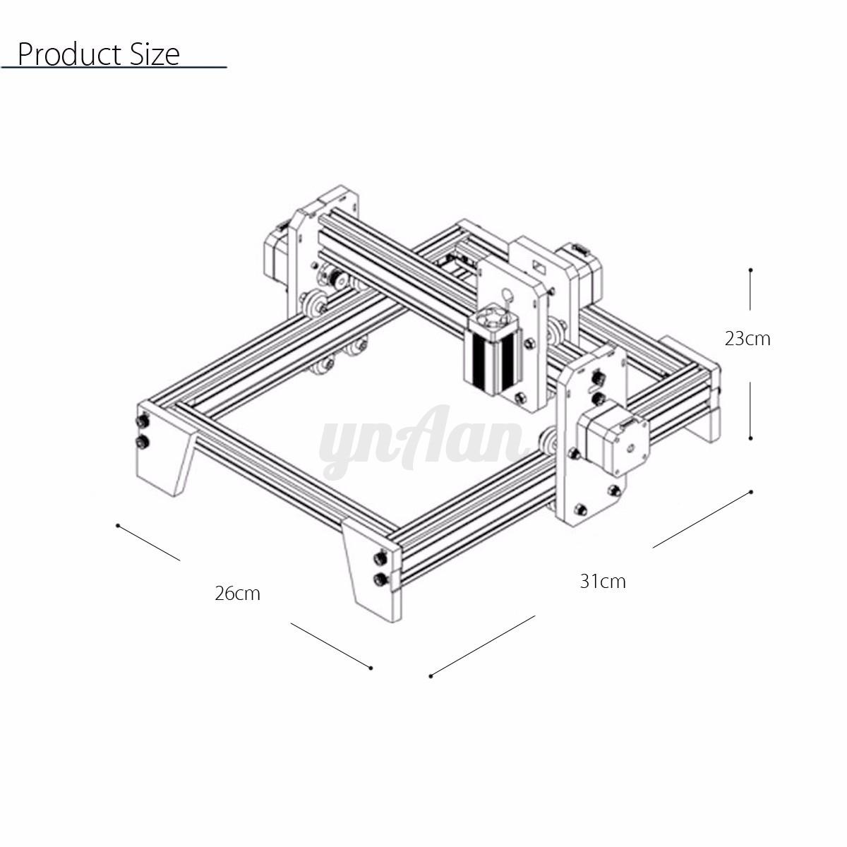 500mw desktop laser engraving engraver cutting machine diy