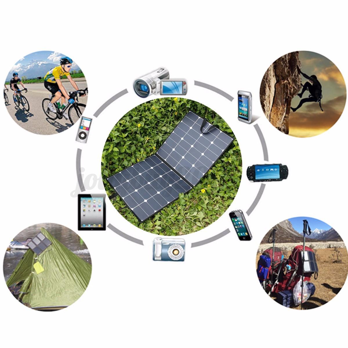100w 18v faltbar flexible solarpanel solarmodul f r wohnmobil rv boot haus dhl ebay. Black Bedroom Furniture Sets. Home Design Ideas