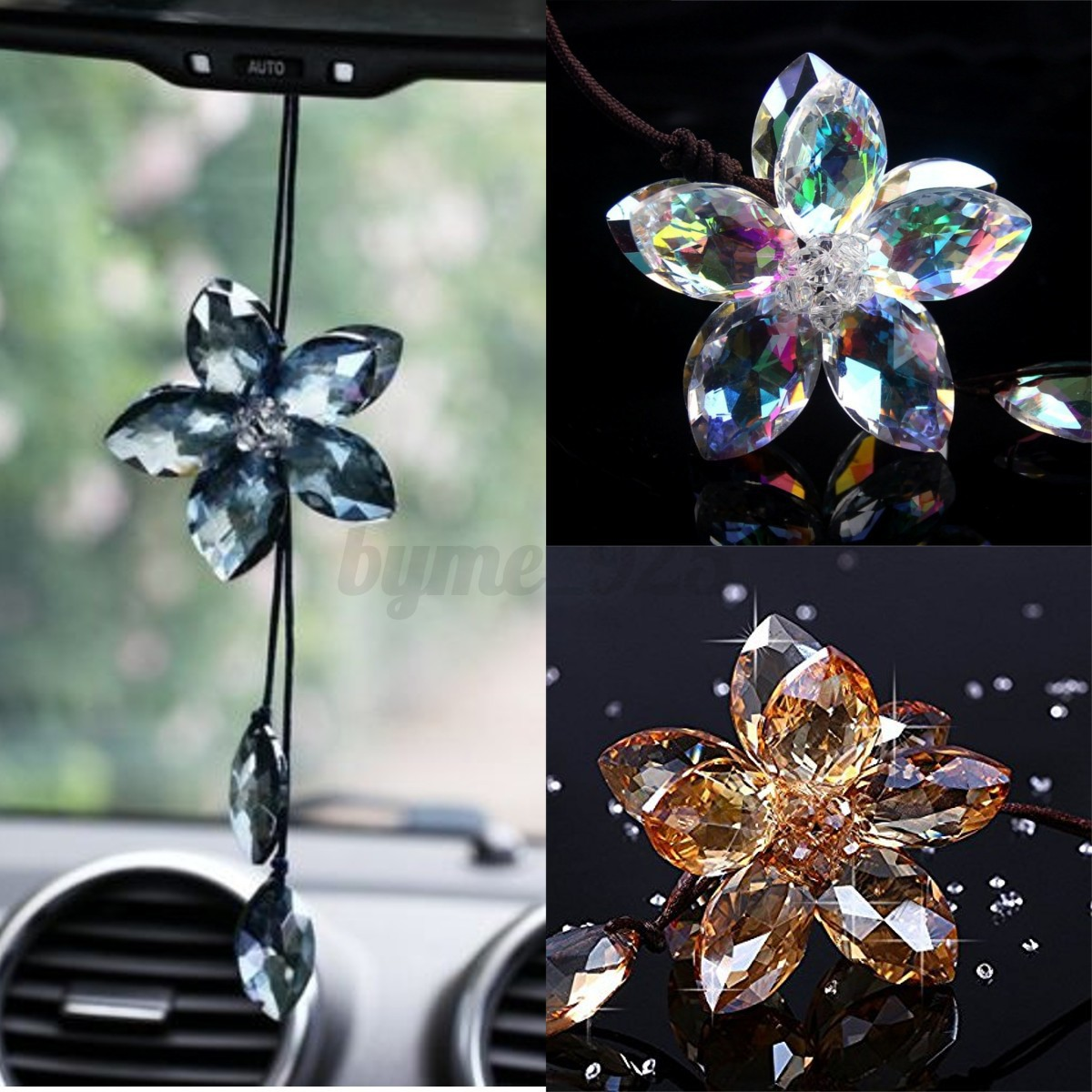 auto car interior rear view mirror pendant crystal decor hanging ornament 35cm ebay. Black Bedroom Furniture Sets. Home Design Ideas