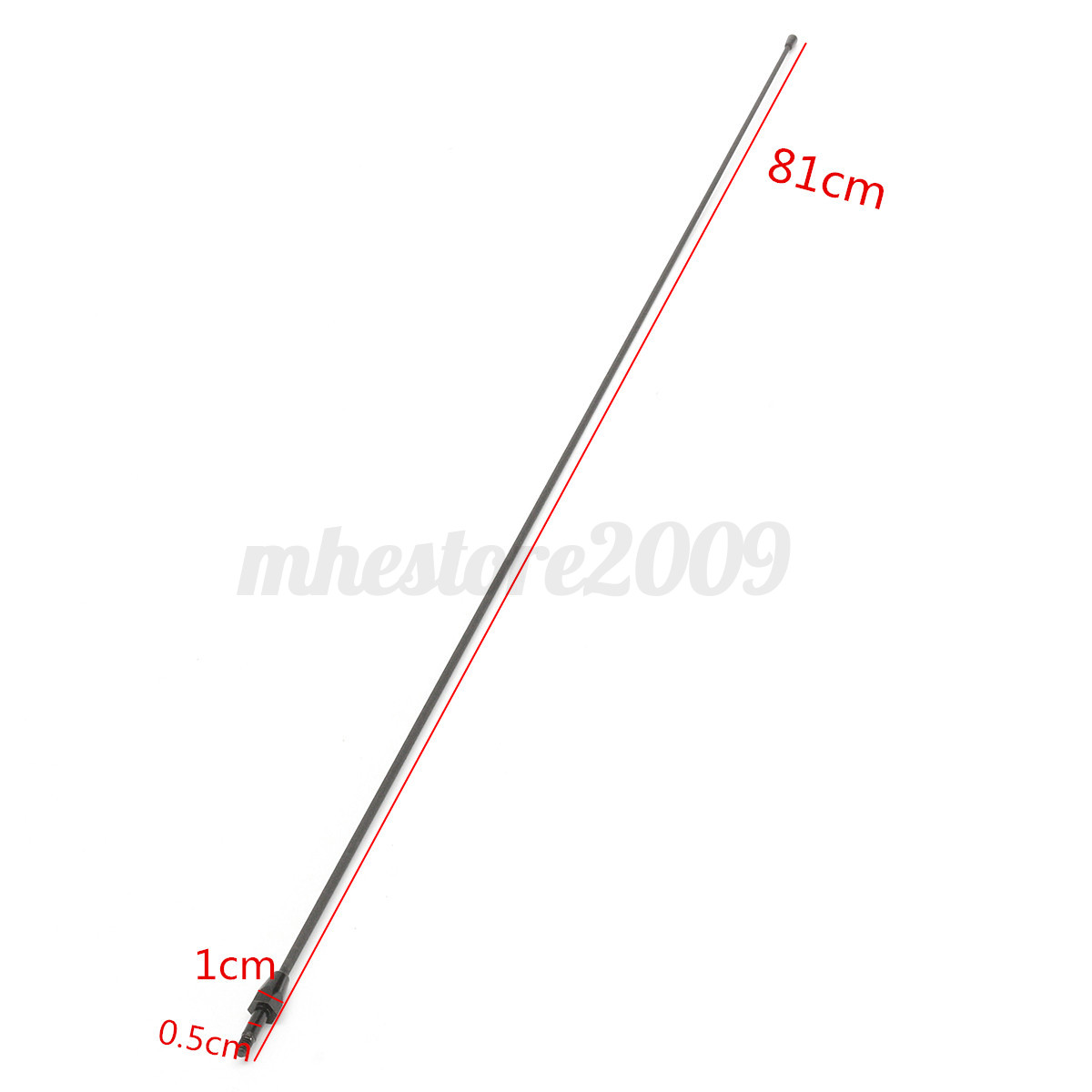 """1980-2008 Ford F150 31/"""" Black Spring Stainless AM//FM Antenna Mast Fits"""