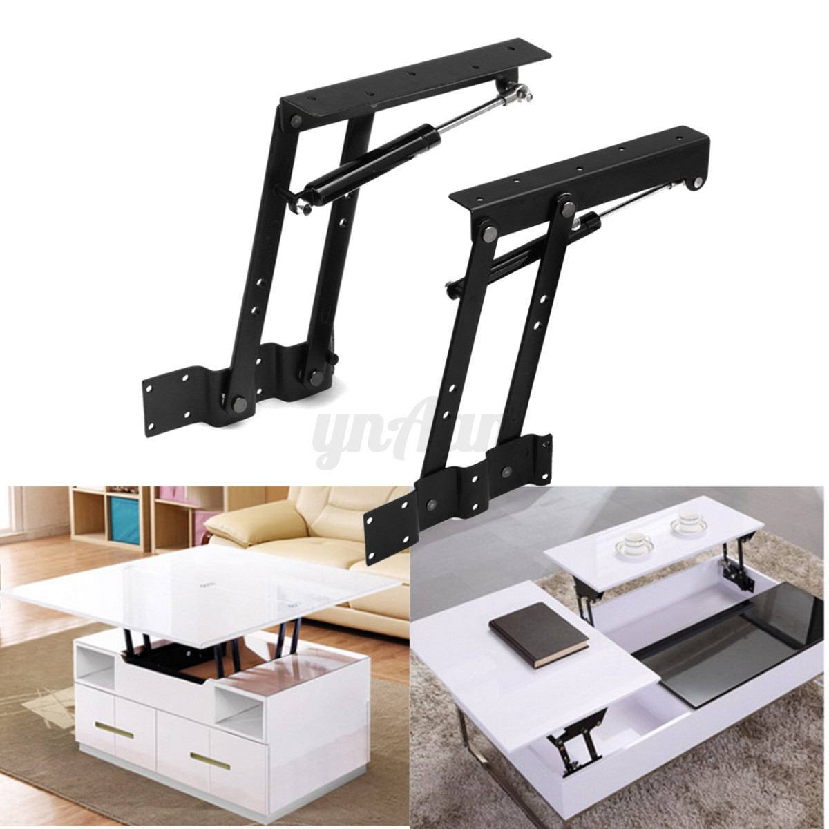 1pair diy lift up top coffee table sofa bed furniture - Mecanisme table basse relevable ...