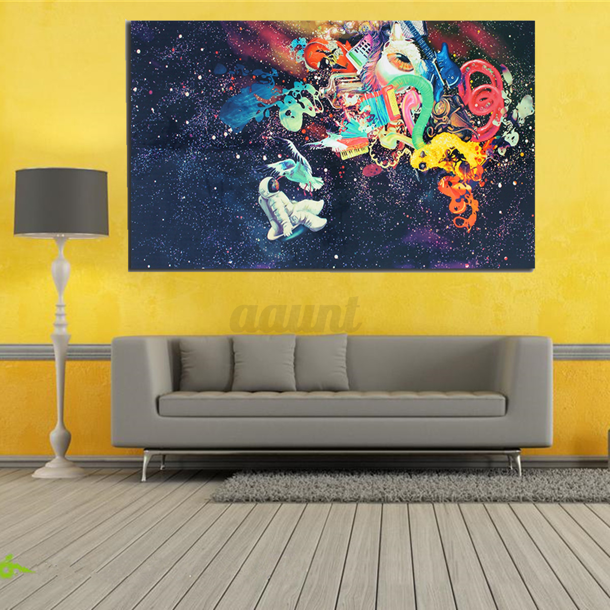 Psychedelic Trippy Art Silk Fabric Poster Modern space Wall Decor 24 ...