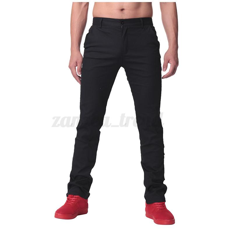 Uk Stock Mens 100 Cotton Slim Fit Jean Straight Cargo