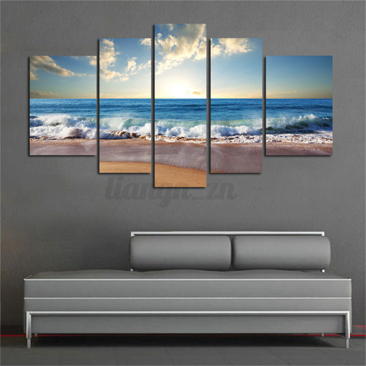 3 5 Pcs Modern Landscape Animals Prints Canvas Art