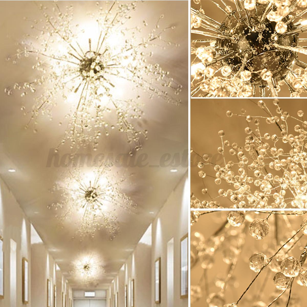 modern dandelion led chandelier fireworks pendant lamp ceiling lights home decor ebay. Black Bedroom Furniture Sets. Home Design Ideas
