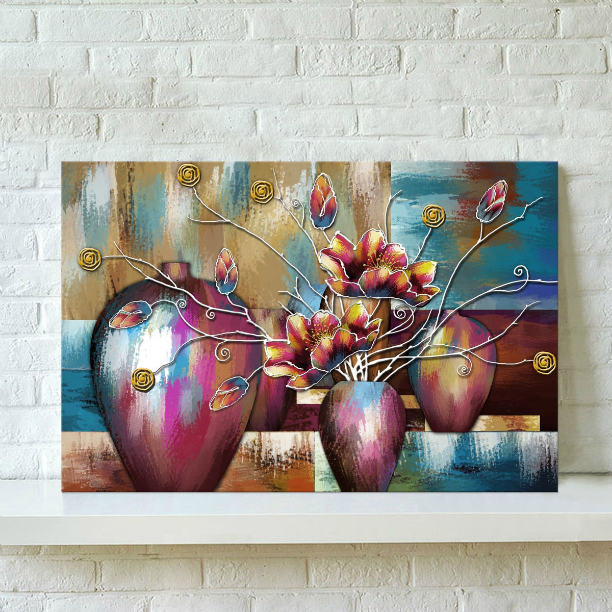 unframed flower modern wall painting canvas print home bedro
