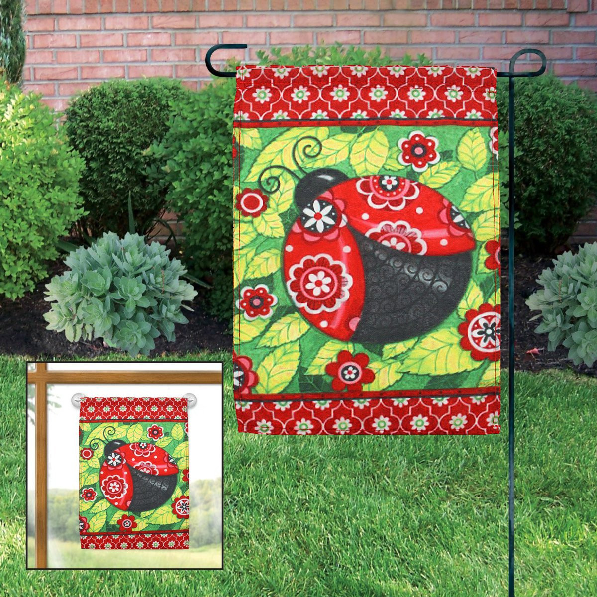 Happy Summer Flower Cartoon Cat Fishing Garden Flag Yard Banner ...