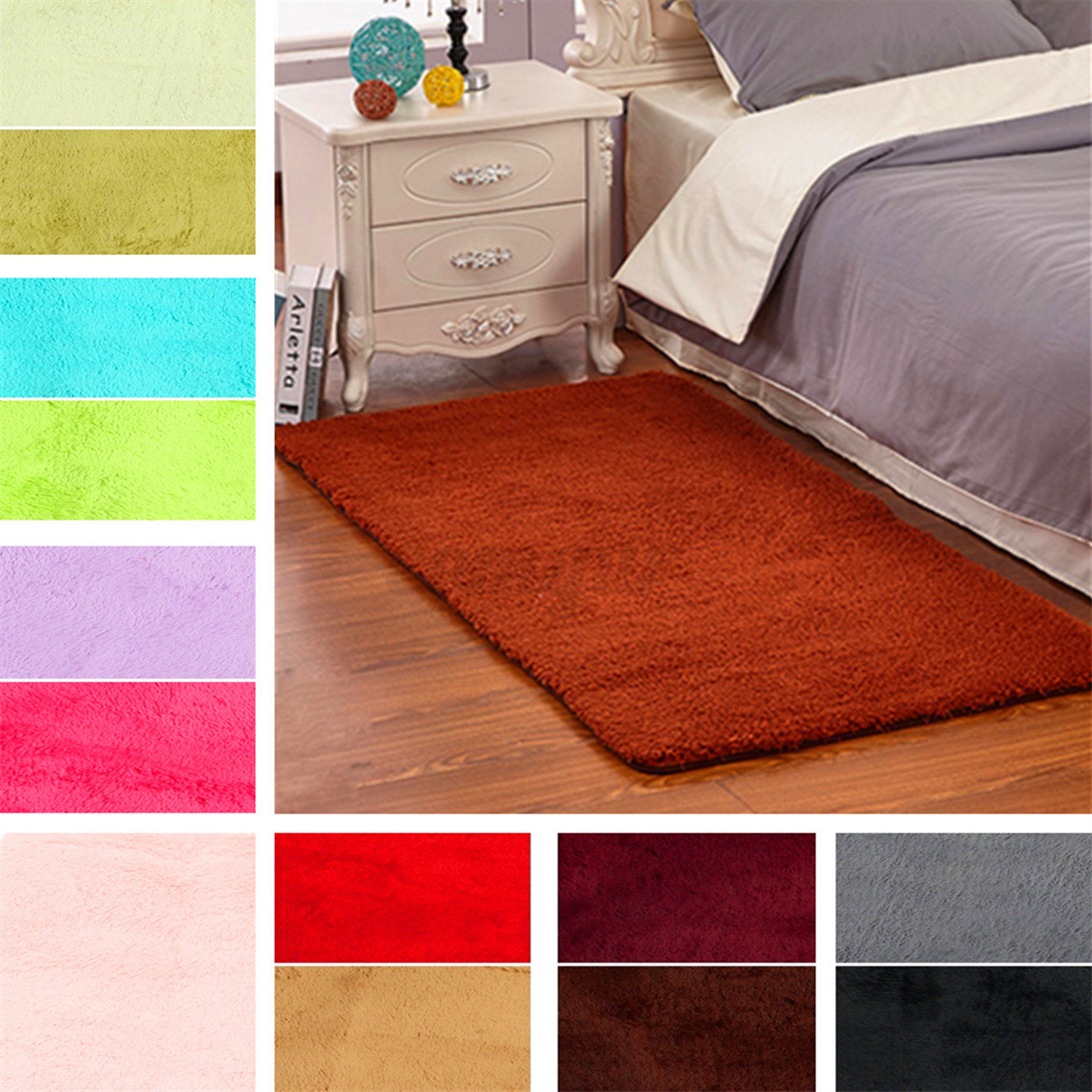area rugs for bedroom 60x120cm anti skid shaggy fluffy area rug bedroom carpet 14027