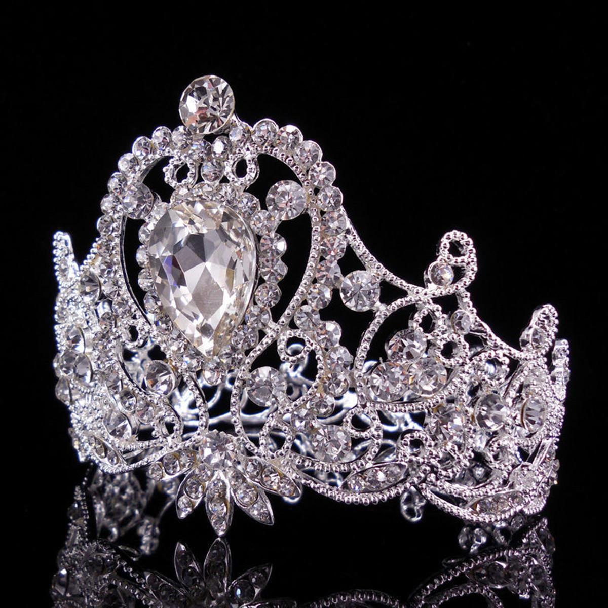 Princess Bridal Rhinestone Crystal Hair Tiara Wedding