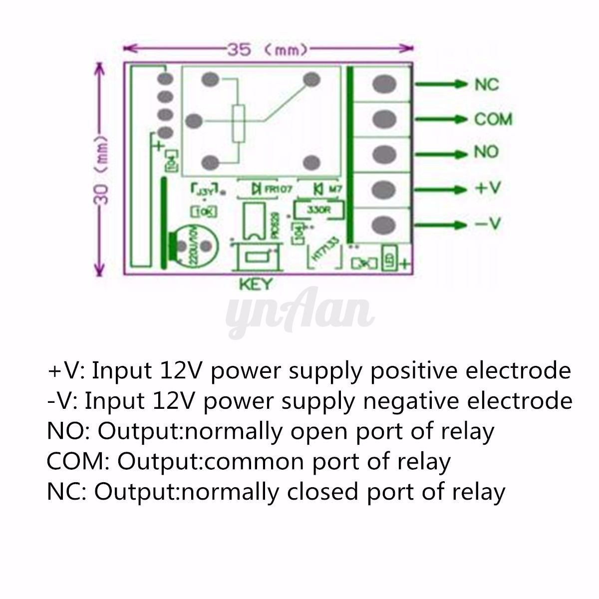 1 Channel 2 Ch 315mhz 12v 10a Wireless Rf Remote Control Receiver Circuit