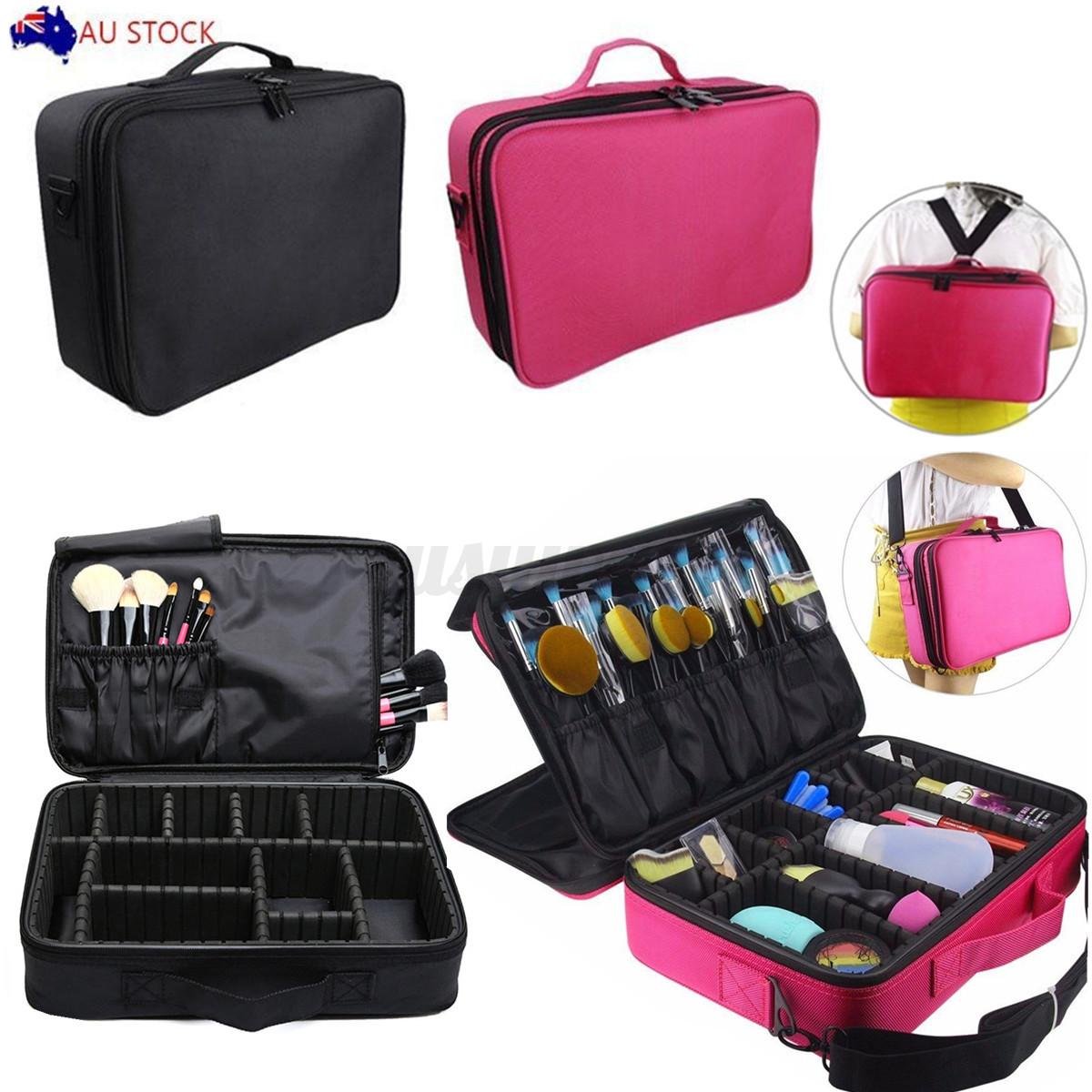 Professional Makeup Bag Cosmetic Case Storage Box Travel ...