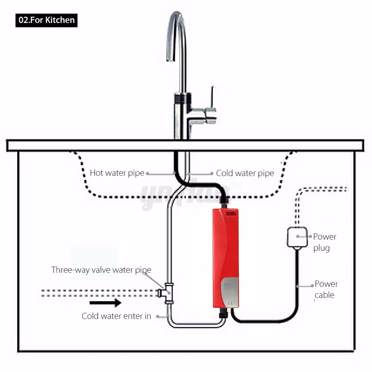 kitchen sink hot water heater mini instant electric tankless water heater kitchen 8499