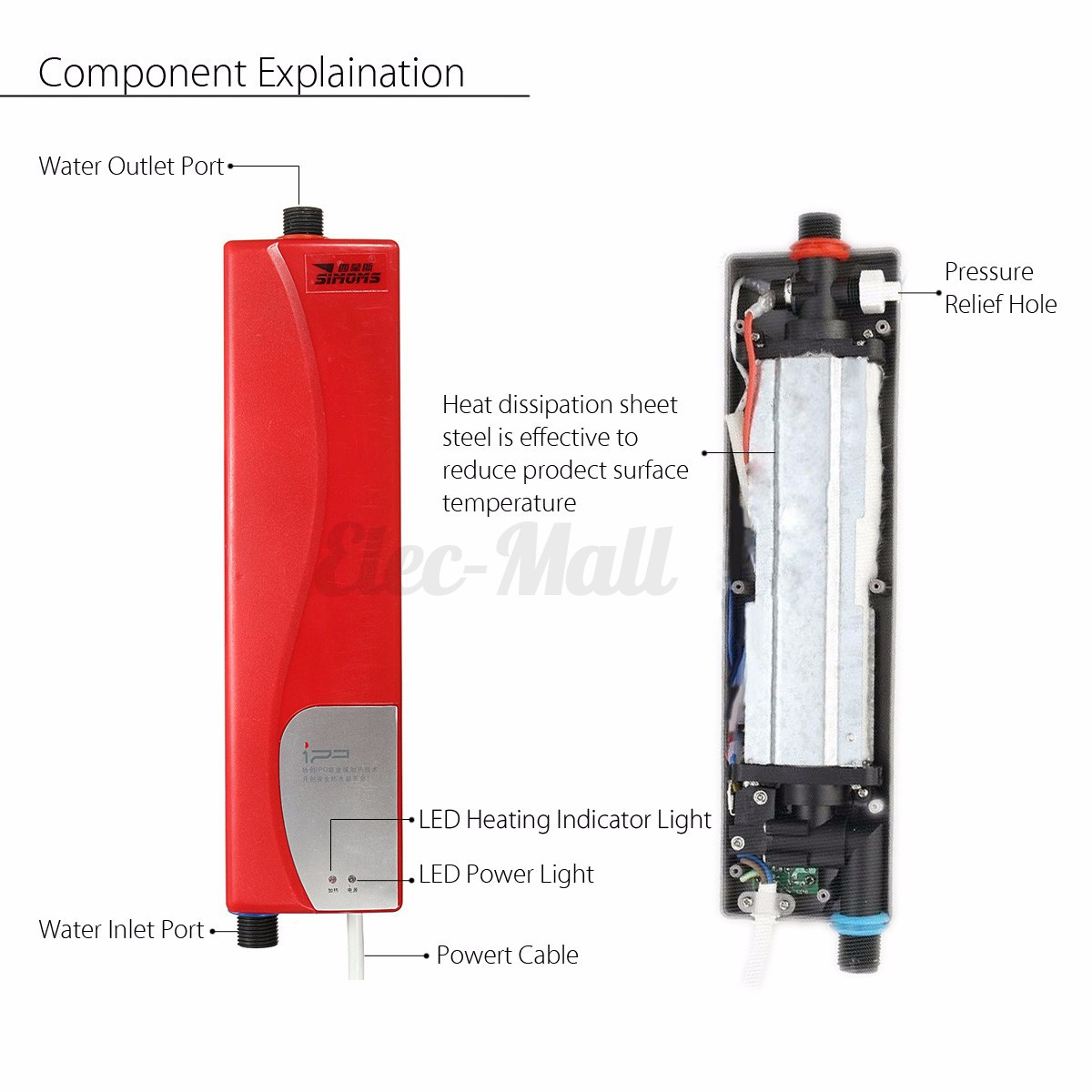 3000w mini 220v instant electric tankless hot water heater for 5 bathroom tankless water heater