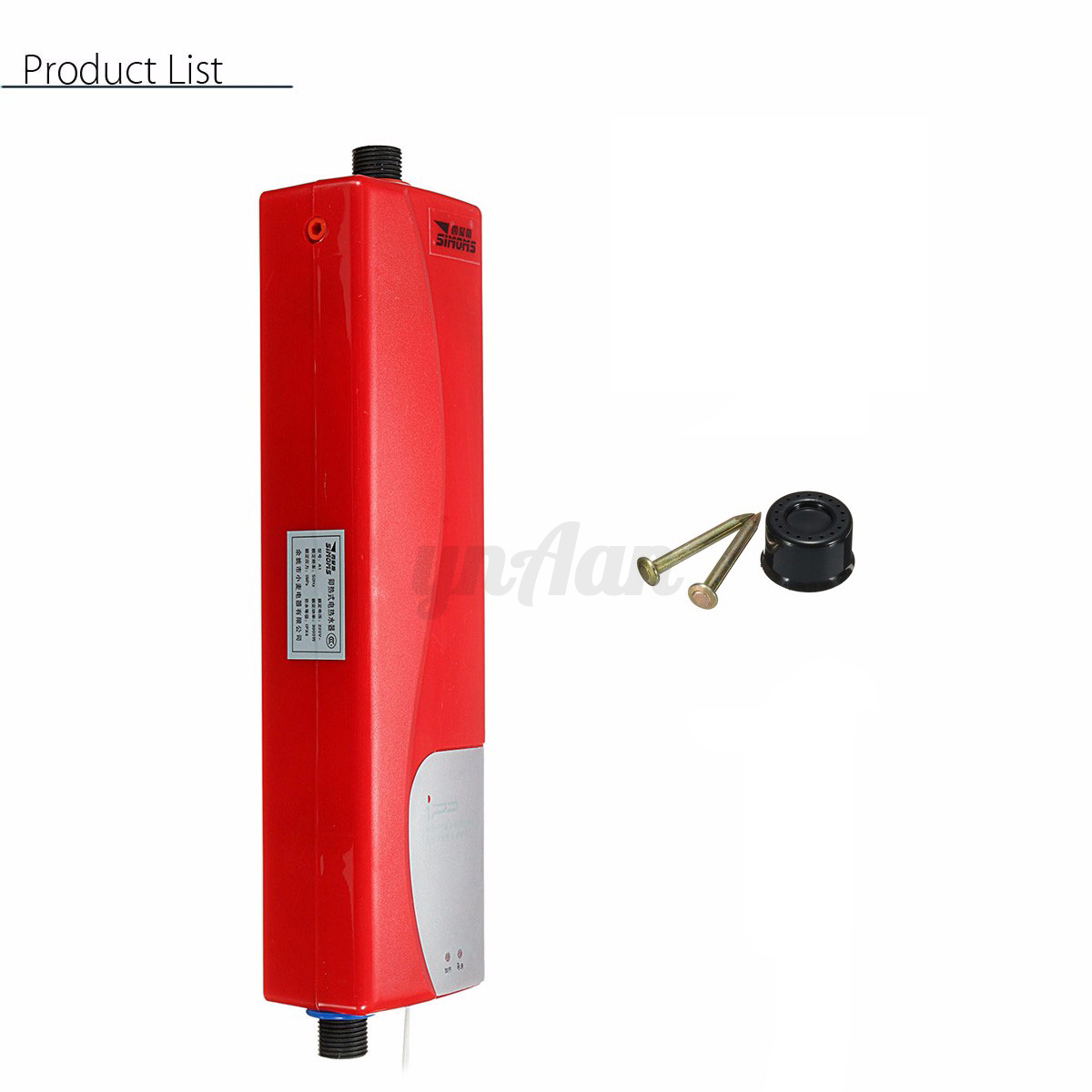 Mini instant electric tankless hot water heater kitchen for 5 bathroom tankless water heater