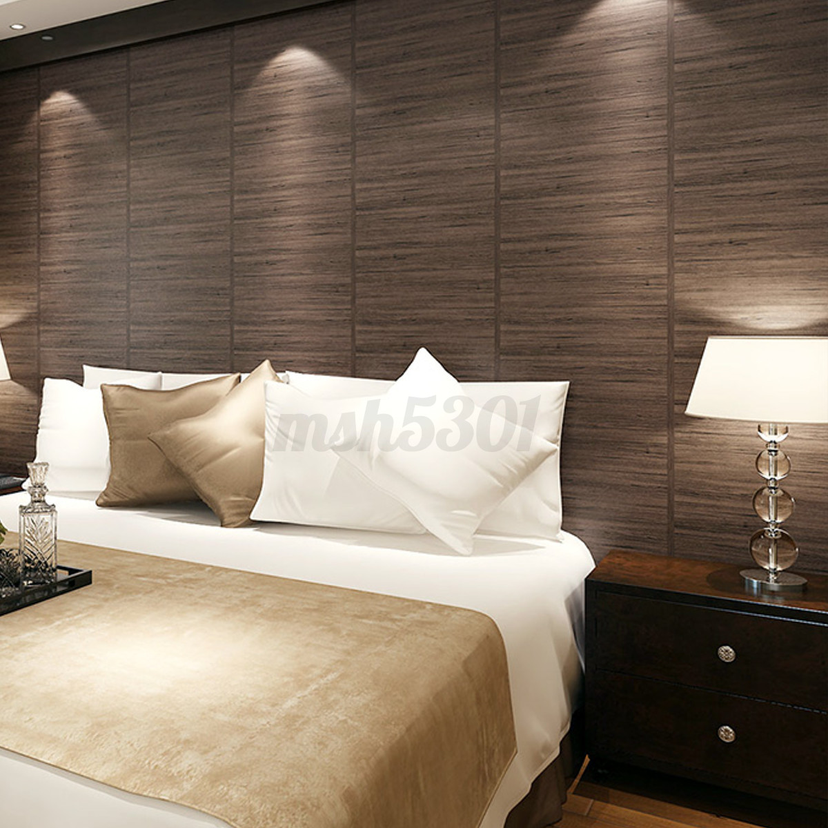 Roll wallcover 3d wood grain pattern damask wall for Damask wall mural