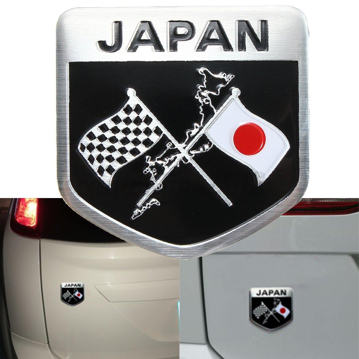 Japanese japan sun flag badge emblem decal sticker car trunk body grille fender