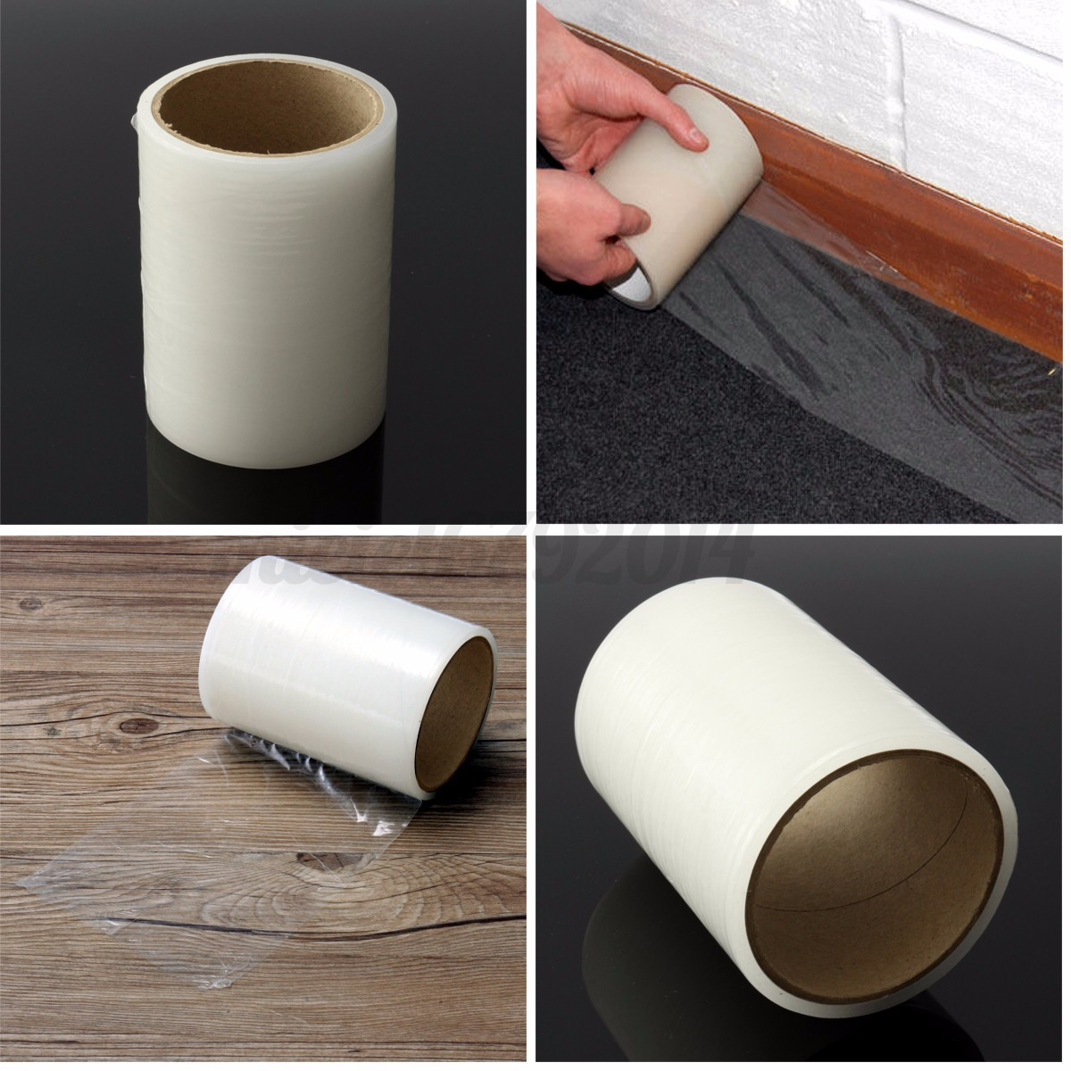 125mm x 25m carpet floor protection roll self adhesive protector cover dust film ebay - Decorating carpet protector ...