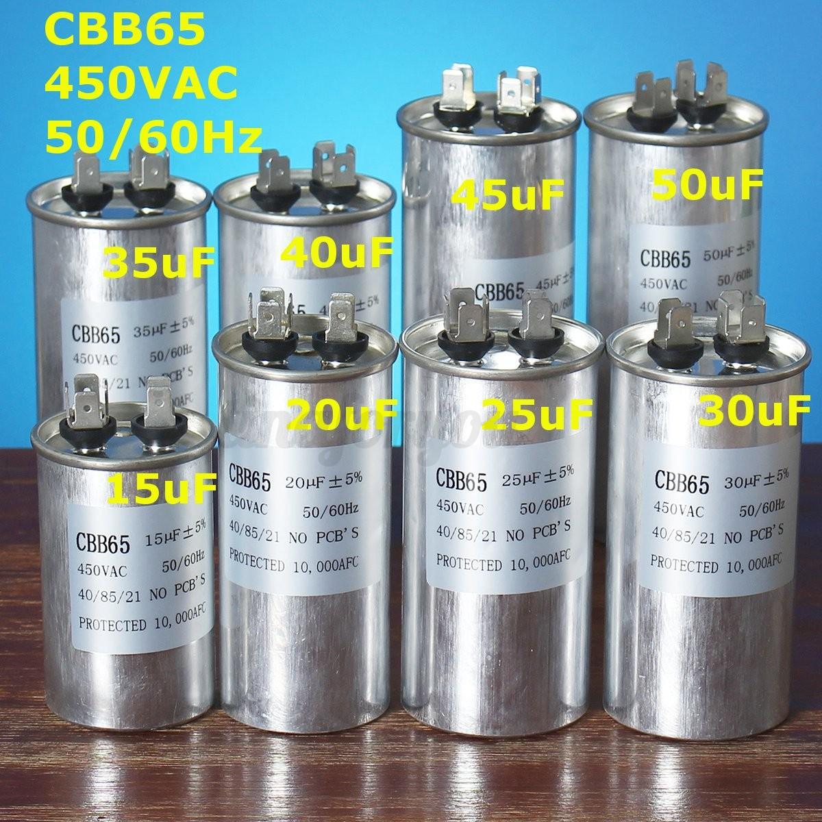 Start / Run Motor Air Conditioning Conditioner Capacitor Compressor ...