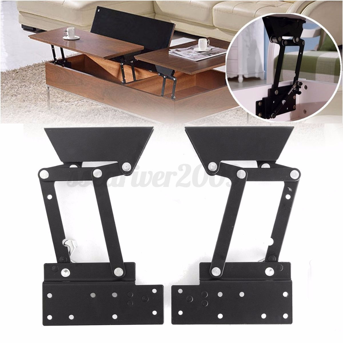 1pair Lift Up Top Coffee Table Sofa Bed Frame Furniture Mechanism Hinge Hardware Ebay