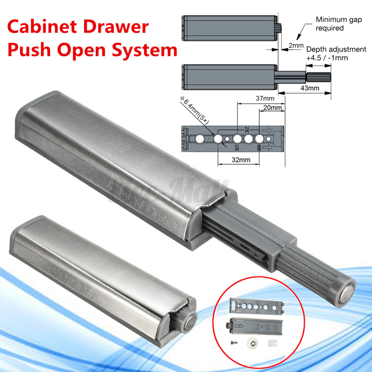Astonishing 10X Push To Open Latch Cabinet Door Drawer Soft Close Damper Home Interior And Landscaping Mentranervesignezvosmurscom