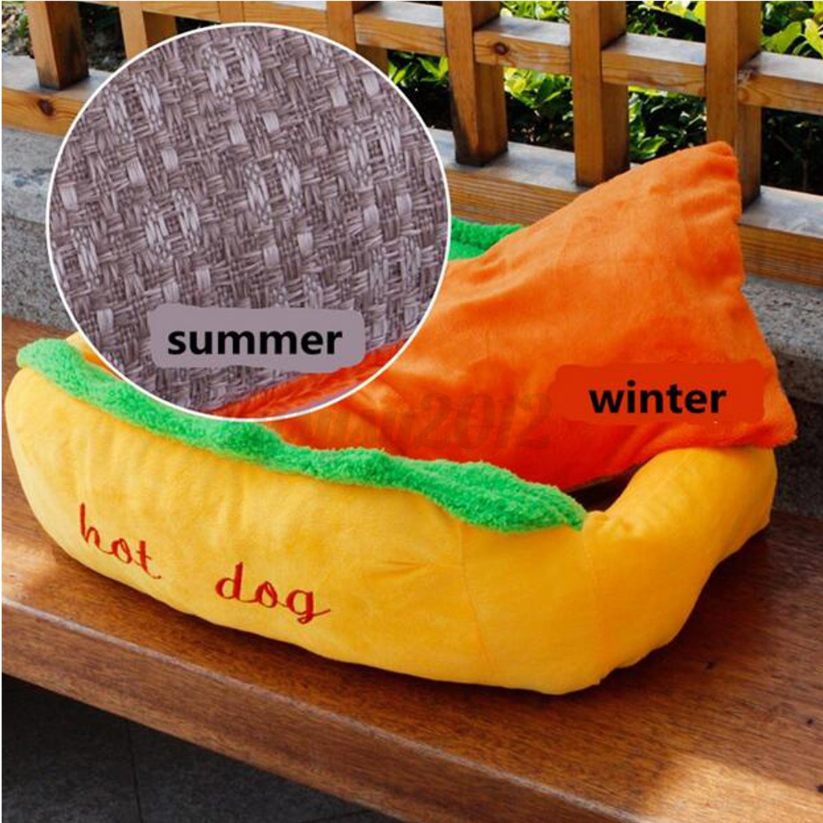 Hot Dog Washable Cotton Kennel Pet Bed Cat Nest Puppy