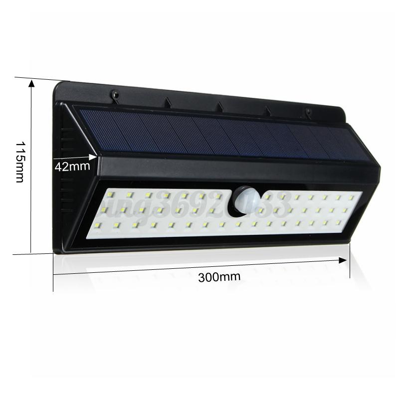 8-62-LED-Solaire-Lampe-Lumiere-PIR-Detecteur-de-Mouvement-Exterieur-Jardin-IP65 miniature 16