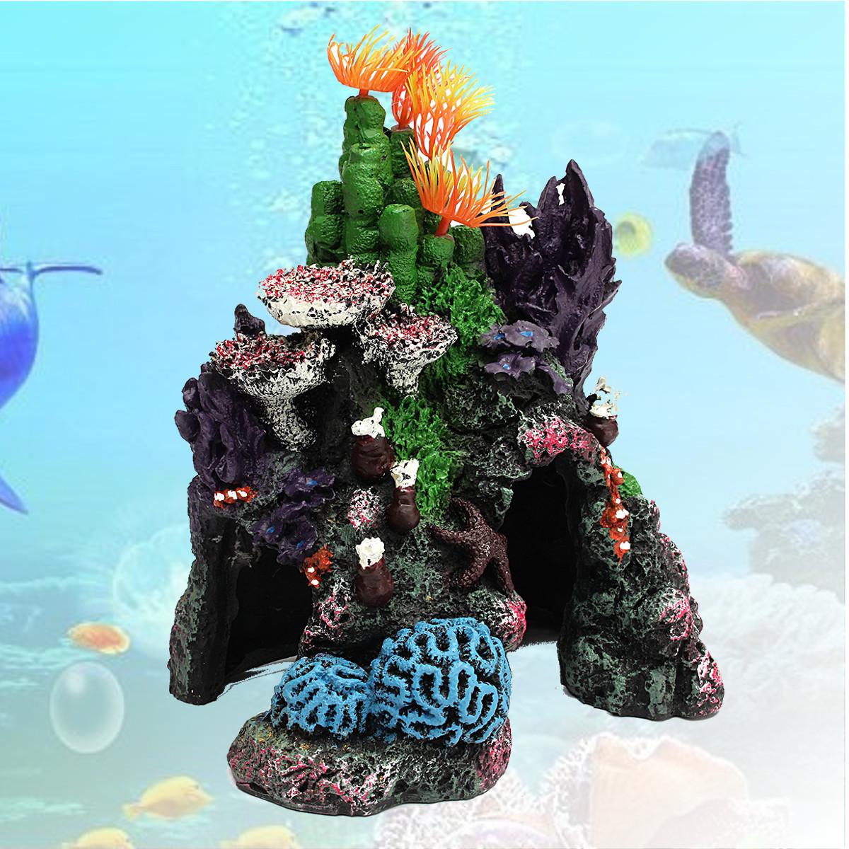 Beautiful colorful resin artificial coral for marine fish for Decoration poisson aquarium
