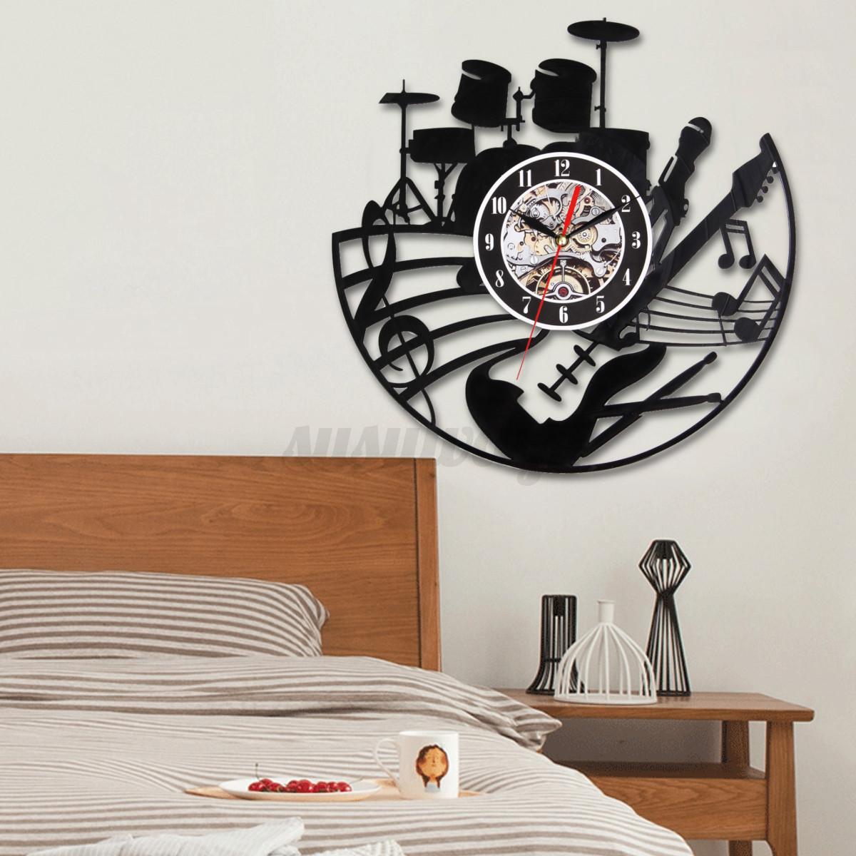 Modern Vintage Wall Decor : Retro animals cat vinyl record clock home wall modern