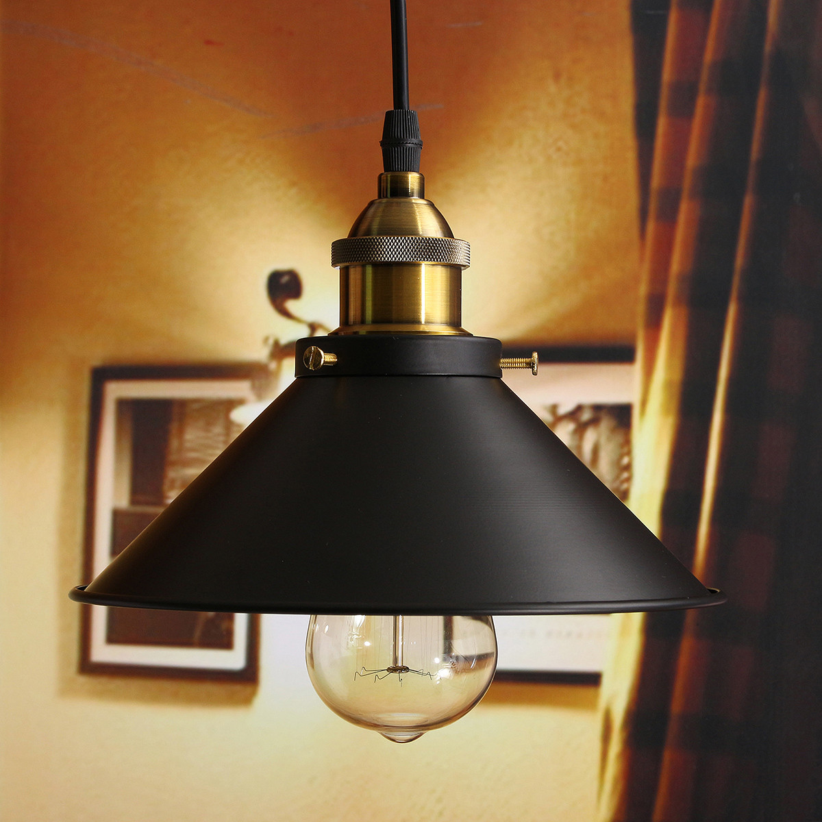 Lighting Fixtures For Home: Vintage Industrial Pendant Retro Loft Home Ceiling Light