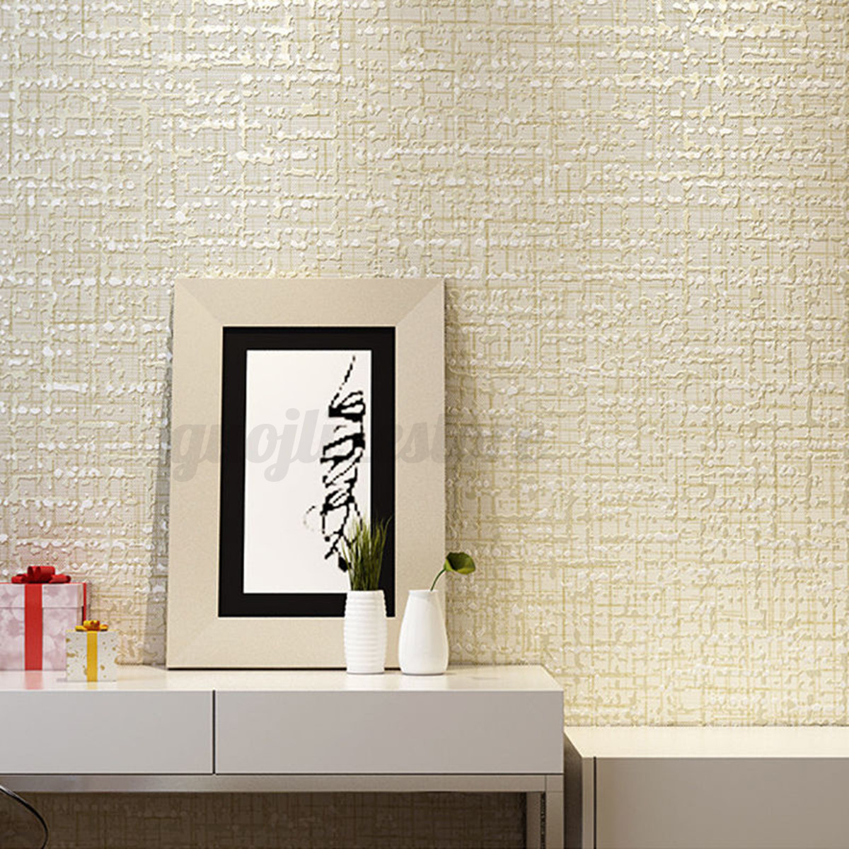 Bedroom Plain Wall Minimalist Concept Minimalist Solid Plain Non Woven Wallpaper Flocking Particles Bedroom
