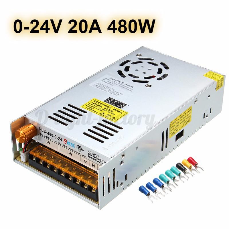 DC 5/12/24/48V Adjustable Voltage Power Supply Transformer For LED ...