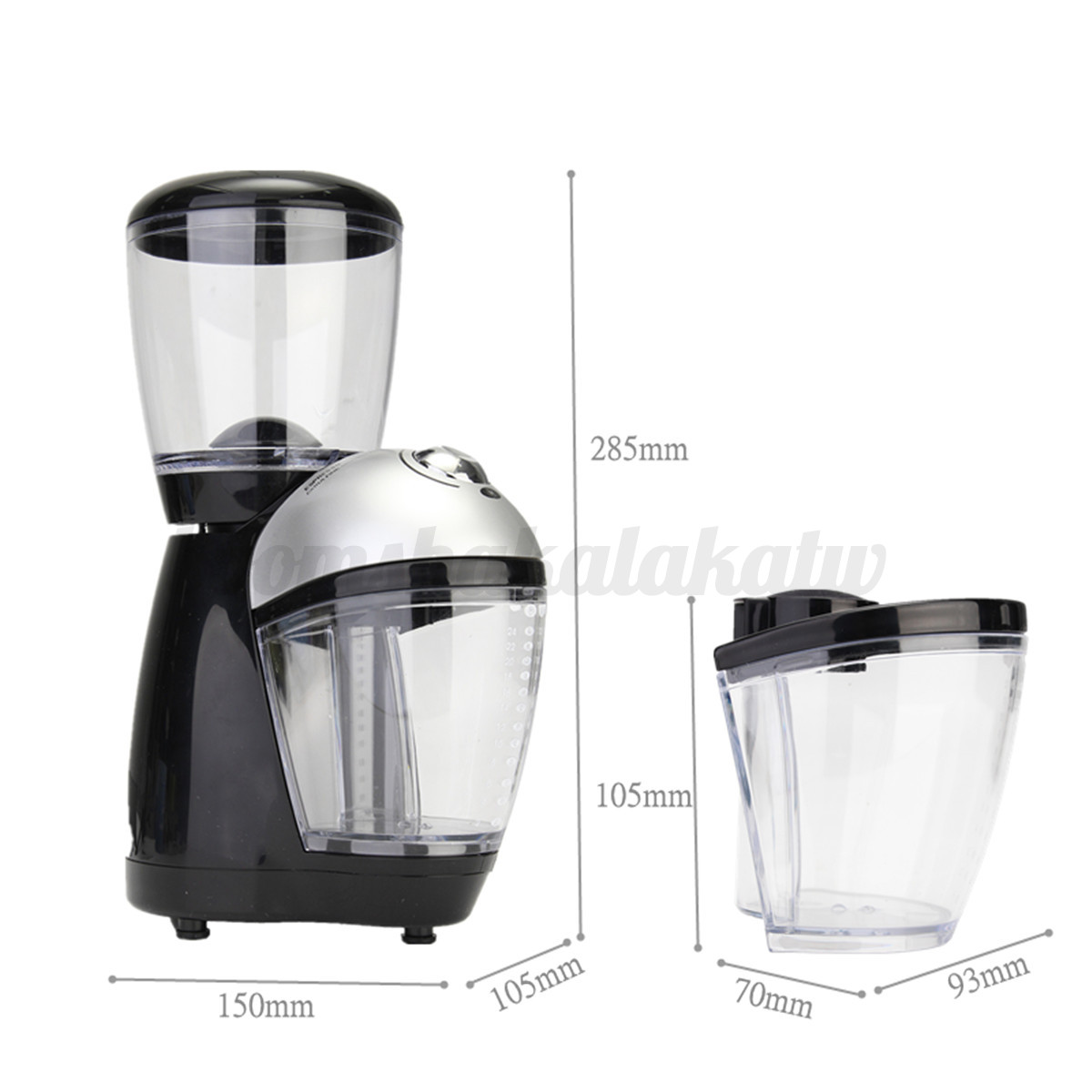 Electric Automatic Coffee Bean Mill Grinder Maker Machine With Cleaning Brush AU eBay