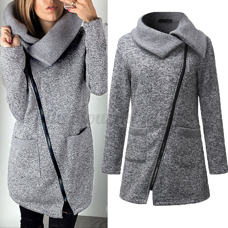 damen sweaters zipper strickjacke strick jacke coat winter. Black Bedroom Furniture Sets. Home Design Ideas
