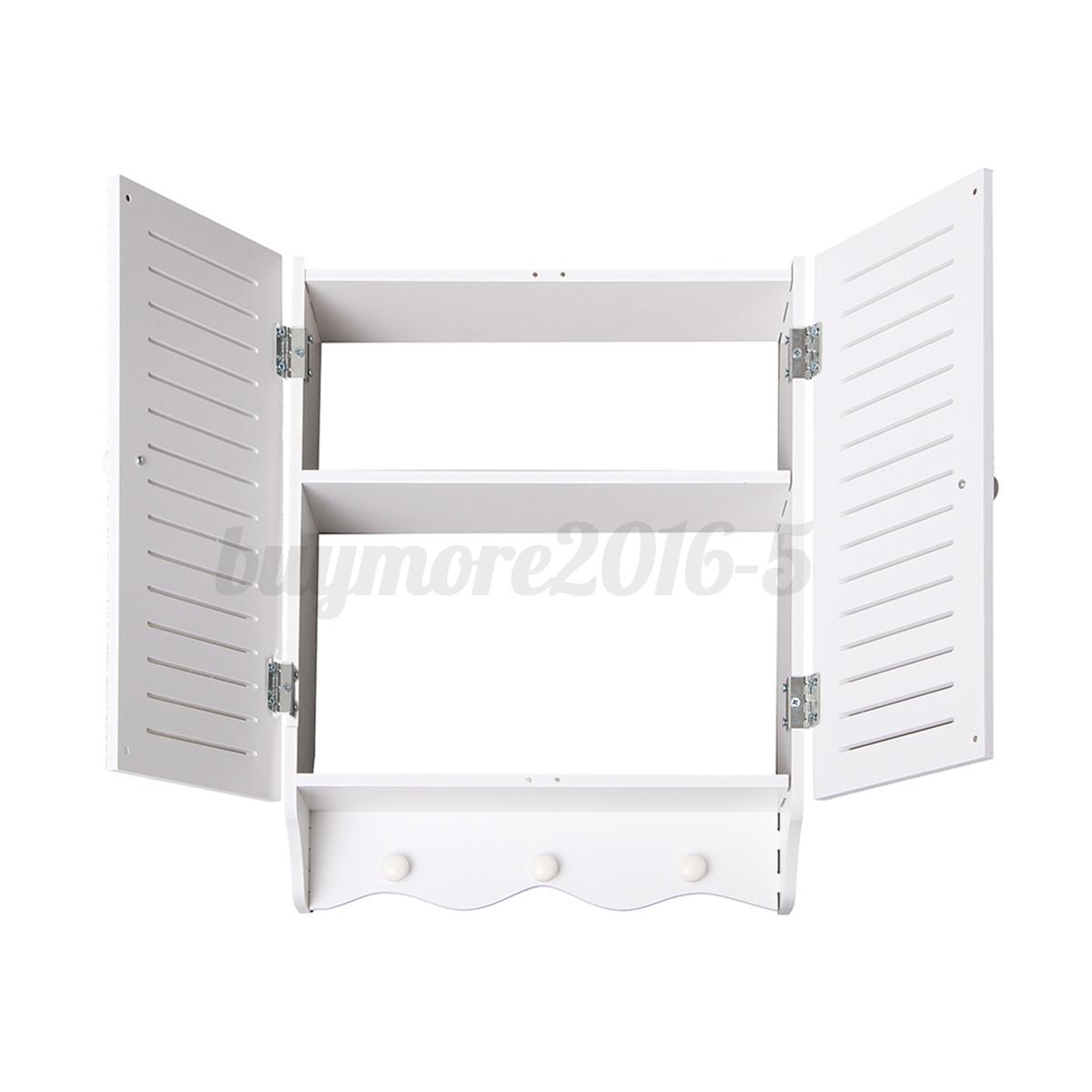 Bathroom cupboard cabinet wall mounted double shutter door for File f bathroom