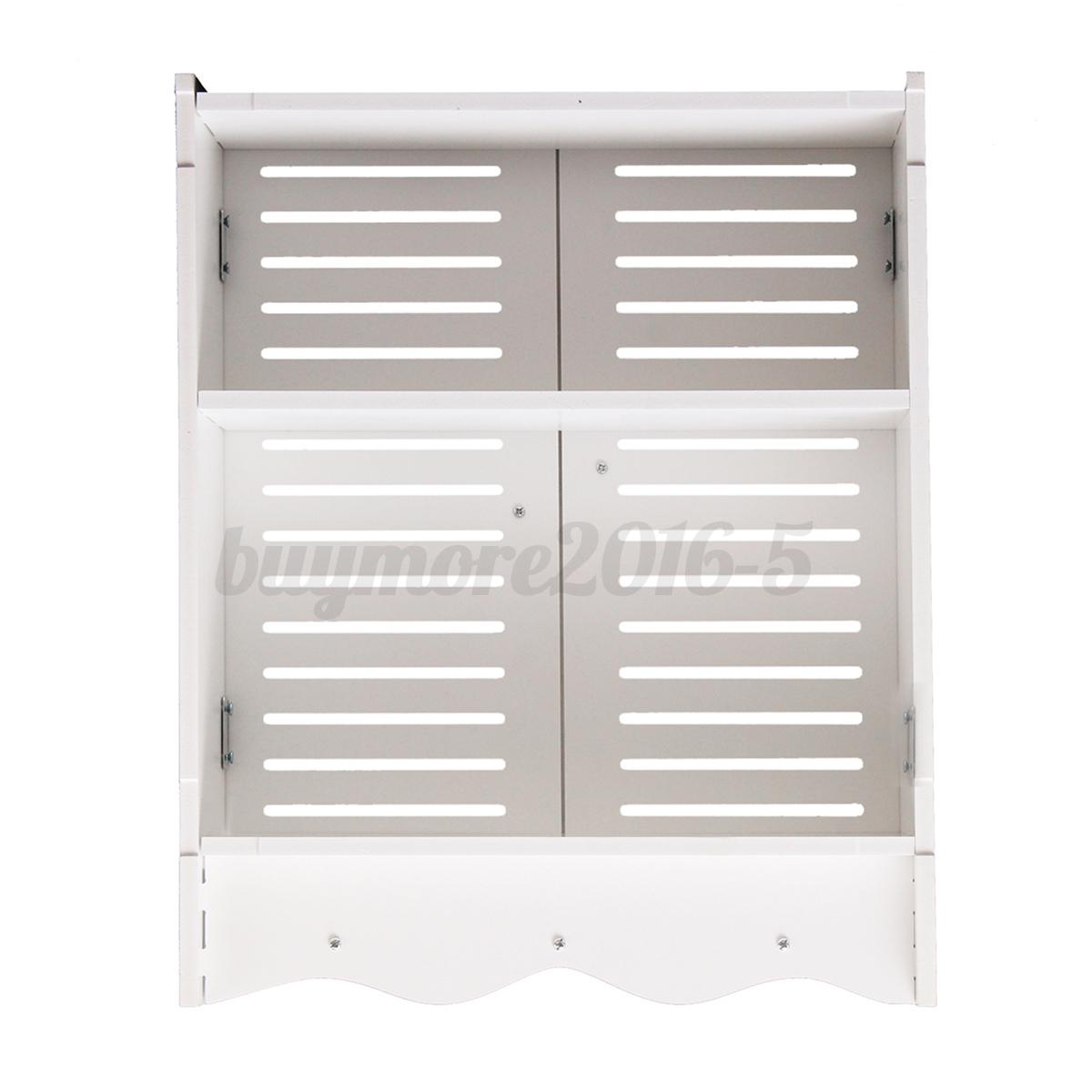 Bathroom cupboard cabinet wall mounted double shutter door for Bathroom designs 7x6