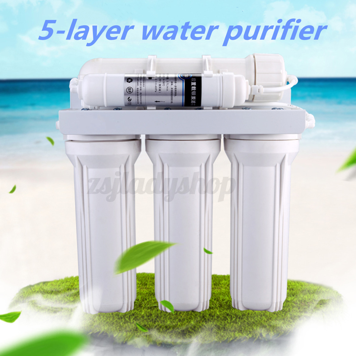 5 Stage Water Filter System Reverse Osmosis Filtration ...