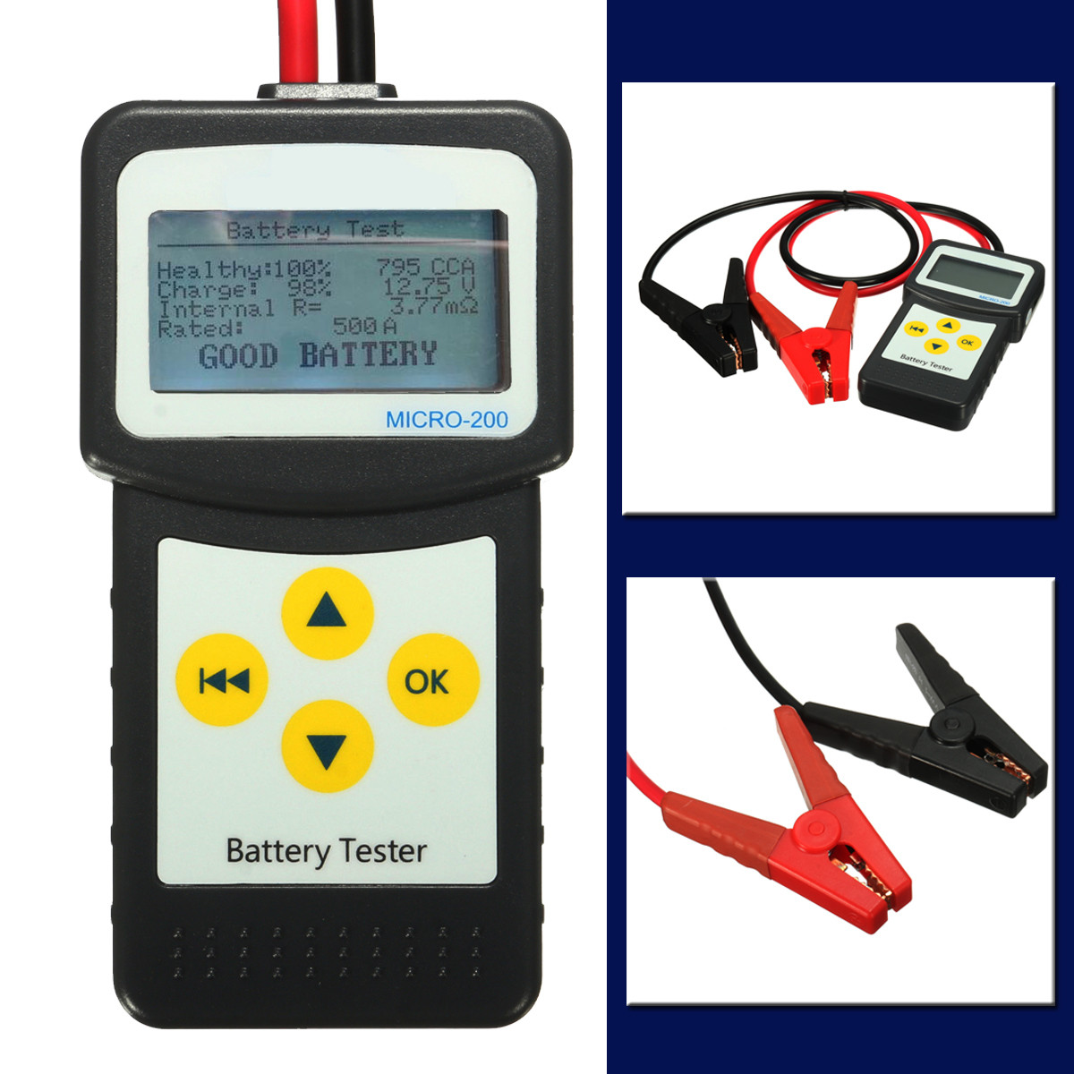 Auto Battery Tester Product : V car battery tester auto vehicle analyzer agm