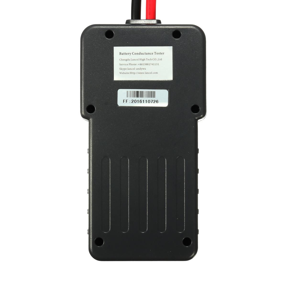 2 Battery Tester : V car battery tester auto vehicle analyzer agm