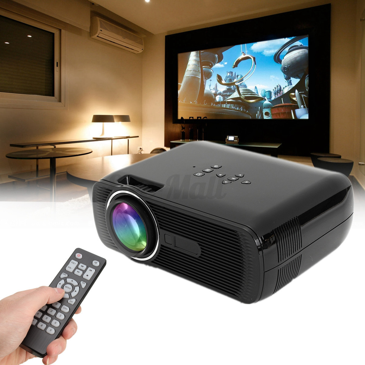 1200 Lumens 1080P Full HD DLP LED 4K Smart Projector Movie