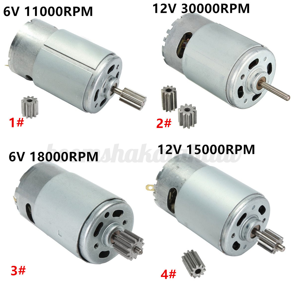 6v 12v 18000 30000rpm electric motor gear for kids ride on for Electric motor with gearbox