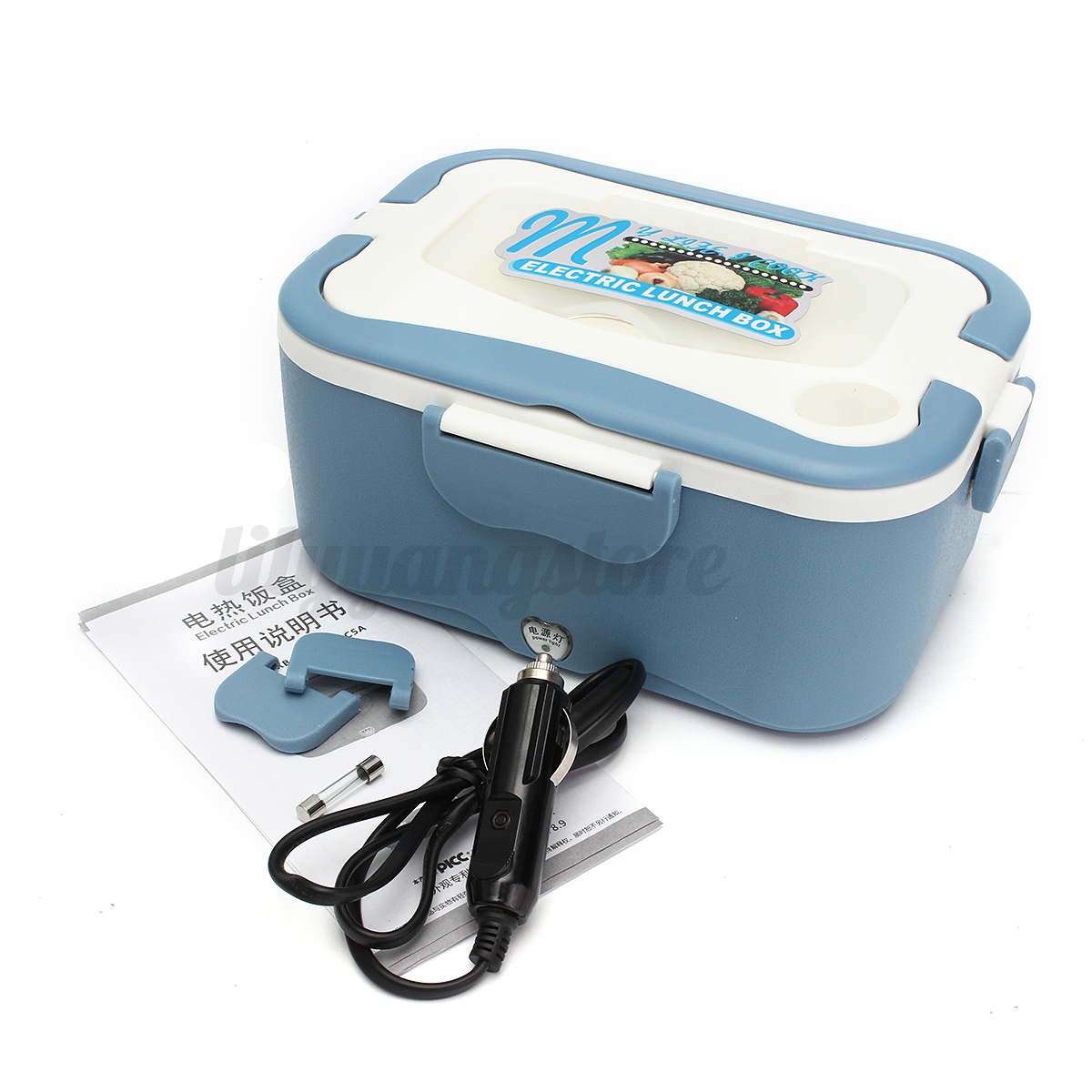 Portable 1.5L Car Plug Electric Heating Lunch Box Food