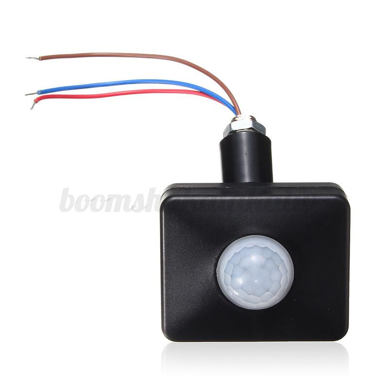 black pir 120 motion sensor detector outdoor indoor switch for led light bar ebay. Black Bedroom Furniture Sets. Home Design Ideas