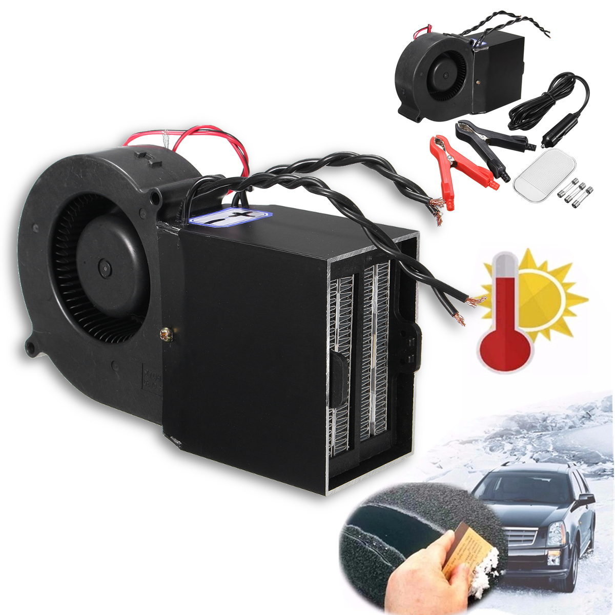 12v 300w 500w voiture ptc c ramique ventilateur chauffage. Black Bedroom Furniture Sets. Home Design Ideas
