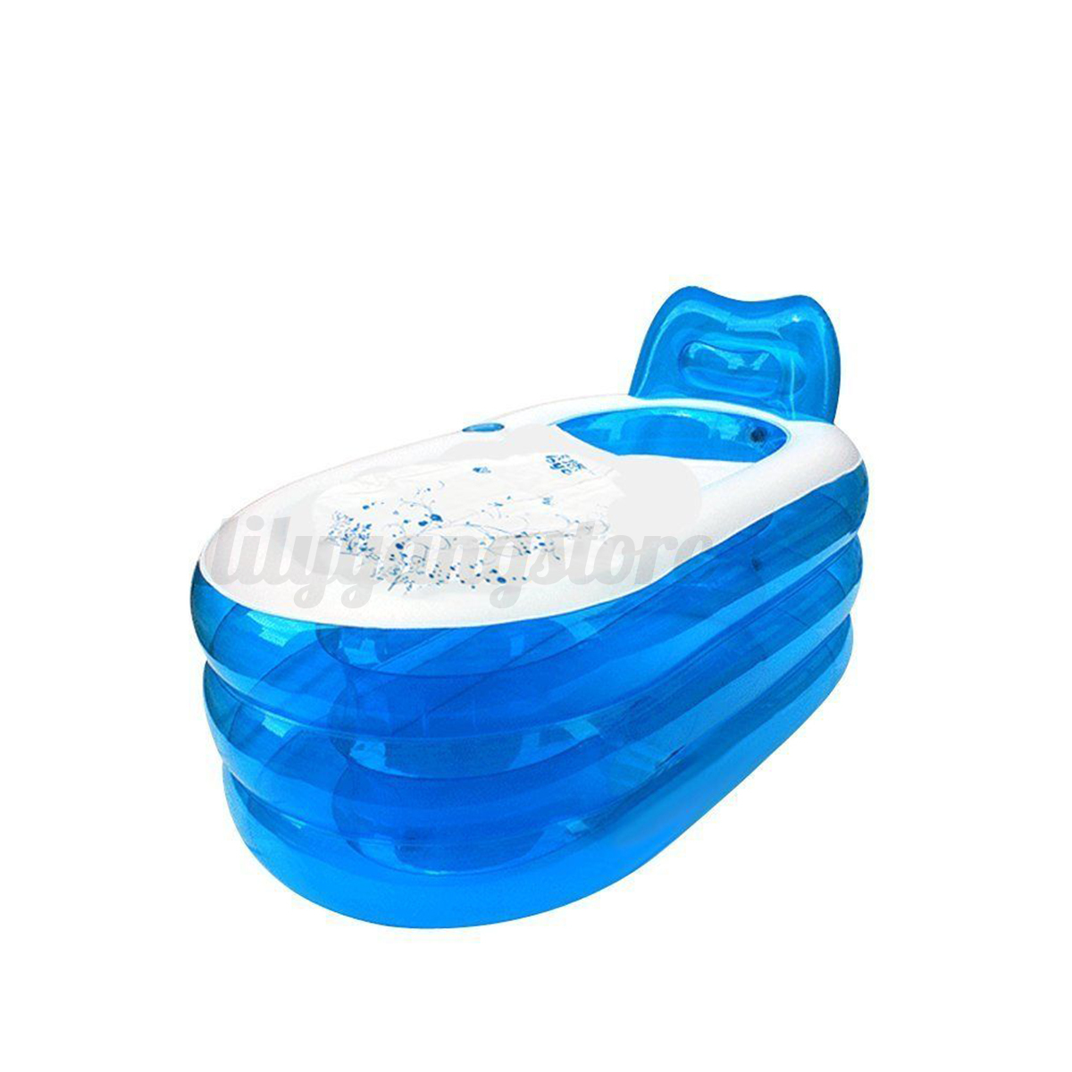 2size blowup adult spa pvc folding portable bathtub warm for Piscine portable
