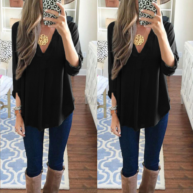 damen sommer tops hemd oversize oberteile freizeit shirt irregular basic bluse ebay. Black Bedroom Furniture Sets. Home Design Ideas