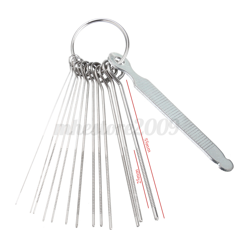 guitar nut slotting file kit saw rods slot filing set luthier replacement tool 938497440927