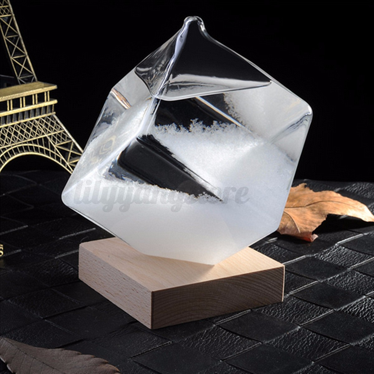 Storm Glass Crystal Weather Forecast Cube Shape Home