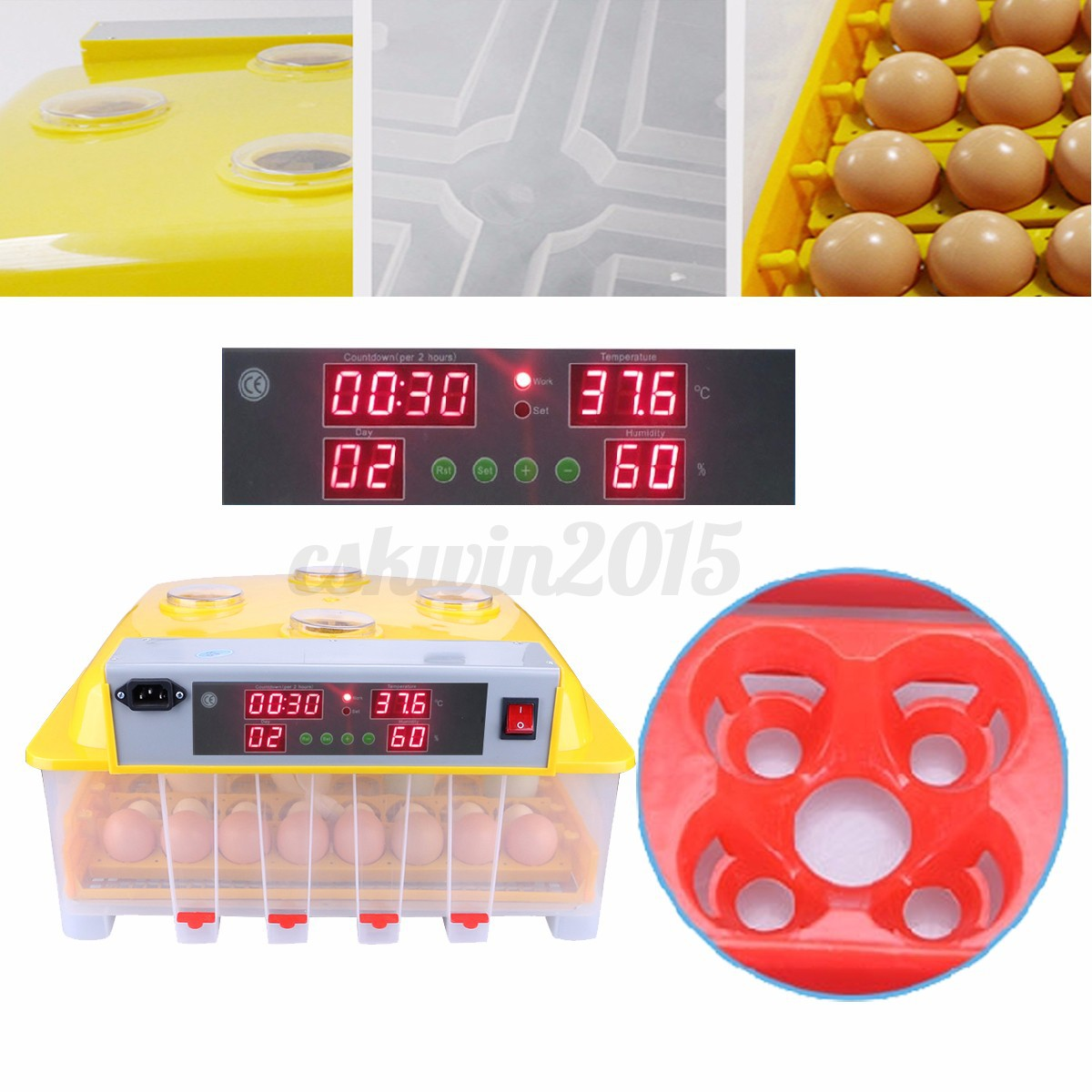 56 Digital Egg Incubator Hatcher Temperature Control Automatic Turning  #BC110F